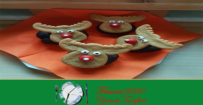 Geyik Süslemeli Muffin Kek Tarifi