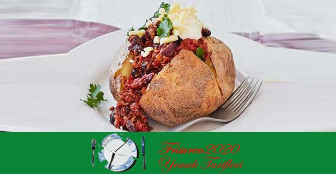 Fırında Biberli Patates Cipsi - Kumpir Tarifi